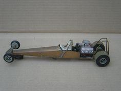 Top Fueller Dragster Slot Car (Scalextric) Scratch built.