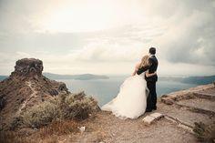 A romantic wedding in beautiful greek island, Santorini #destinationweddinggreece See more: http://www.love4weddings.gr/peonies-fairytale-wedding/