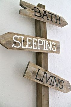 Funny – Apartment Signpost … - Home Decoration Wood Projects, Projects To Try, Apartment Guide, Home Decoracion, Deco Design, Decoration, Home And Living, Room Inspiration, Diy Home Decor
