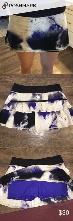 Lululemon Tennis Skirt Size 6 Absolutely adorable lululemon tennis skirt in excellent used condition, size 6.  The color is more of the cobalt blue/purple. Smoke free, pet free home. lululemon athletica Shorts
