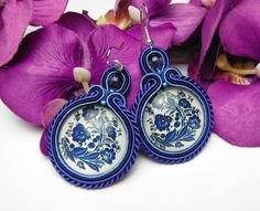 Check out our jewelry selection for the very best in unique or custom, handmade pieces from our shops. Shibori, Soutache Earrings, Handmade Jewelry, Unique Jewelry, Fashion Photo, Jewelry Collection, Jewerly, Diy And Crafts, Jewelry Design
