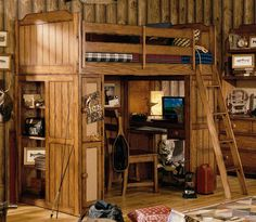 Love this distressed looking bunk!