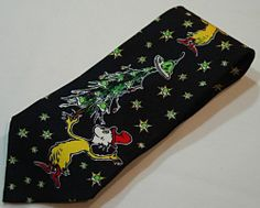 Vintvage w Green Eggs and Ham Christmas Mens Neck Tie 90s Dr Seuss Xmas Necktie | eBay