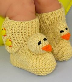 FREE Baby Chick Boots (Booties) Pattern