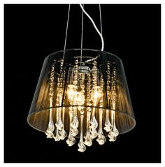 The 97 best lampshades make a difference images on pinterest lamp shades of light rattan bell chandelier minimalist and modern this chandelier would punch up mozeypictures Image collections