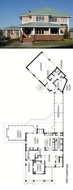 Energy Efficient Prairie Craftsman Home Plan by Sarah Susanka.