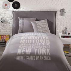 Parure da letto 240 x 260 cm grigia ...