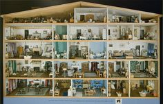 Dollhouse at the Smithsonian - when image is enlarged contains lots of useful details to inspire regular dollhouse