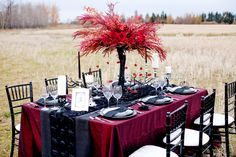 Gothic Wedding Decorations | FaBLOOMosity | Special Event Rentals Blog