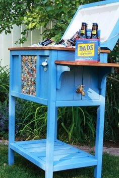 Look what you can do to make a cooler look awesome in your yard!