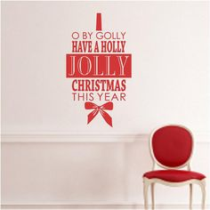 Vinyl Wall DecalO by Golly have a Holly Jolly by vinylartstudio, $18.00