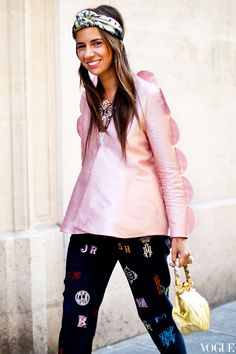Natasha Goldenberg wearing a Tzipporah jacket, Shourouk necklace and Stella McCartney pants