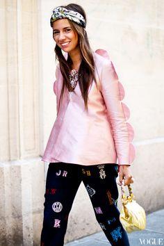Natasha Goldenberg wearing a Tzipporah jacket, Shourouk necklace and Stella McCartney pants