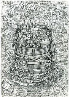 Hardtruck. Грузовик. Зарисовки капиллярной ручкой. Стимпанк. Дизельпанк. Киберпанк. Биомеханика. Сюрреализм. Dieselpunk. Skytown. Steampunk. Capillarypen. Flytown. Biomechanical. Lighthouses. Pencildrawing . Pendrawing. Skytower. Surrealism. T-Shirts print.