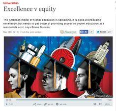 Universities : excellence v. equality / TheEconomist | #highereducation #universidadencrisis