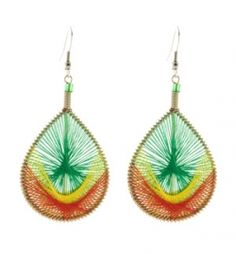 How to Make Peruvian Thread Earrings