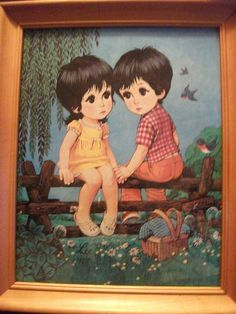Big Eyed Mod Kids by LEE by RicsRelics on Etsy, $30.00