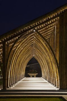 of Naman Retreat Conference Hall / VTN Architects - 6 Naman Retreat Conference Hall / Vo Trong Nghia Architects © Hiroyuki Oki/ Vietnam Bamboo Architecture, Cultural Architecture, Architecture Design, Parametric Architecture, Stairs Architecture, Chinese Architecture, Futuristic Architecture, Amazing Architecture, Bamboo Building