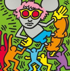 Andy Mouse - Keith Haring - Georgetown Frame Shoppe, you can see more at: http://archesart.co.uk/Works/viewPrint/MjAxMA==
