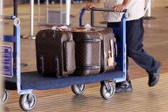 When in travel, you can never go wrong with Louis Vuitton luggage