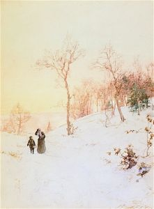 Back from Church in Winter - Walter Launt Palmer - The Athenaeum