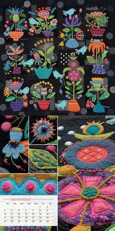 Stitches to Savor 2019 Calendar: Sue Spargo: 0744527701520: AmazonSmile: Books