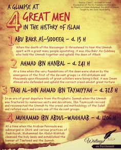 The 4 Great men in History of Islaam!