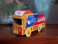 My car super car. I have made this using colgate toothpaste box :)