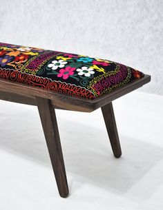 marquis ottoman with Suzani fabrics by namedesignstudio