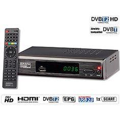 auvisio DVB-T2-Receiver mit H.265/HEVC für Full-HD-TV, HDMI & SCART, LAN, USB auvisio DVB-T2-Receiver