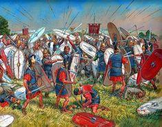 La gran victoria de Mario sobre los cimbrios en Vercelae, cortesía de Igor Dzis. Más en www.elgrancapitan.org/foro