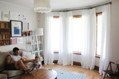 diy muslin curtains