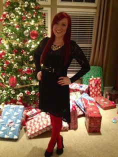 adorable with black tights for Christmas! | dresses | Pinterest ...