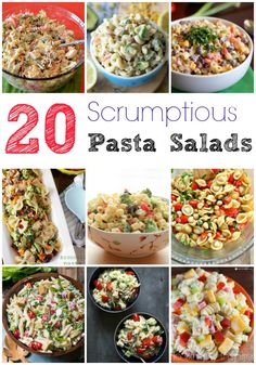 Try something new for your next get together. Any of these 20 Scrumptious Pasta Salads would be fabulous at any Summer BBQ's!