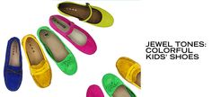 Jewel Tones: Colorful Kids' Shoes - http://fancycentral.com/291/jewel-tones-colorful-kids-shoes/