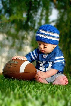 Indianapolis Colts Beanie NewbornBabyToddler by RockyMtnFringe, $15.00