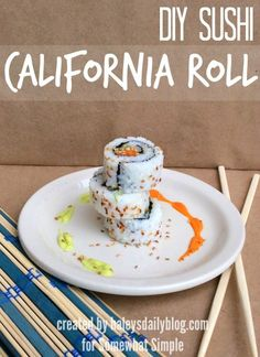 Calling all sushi lovers! How to make your own California Sushi Rolls! #dinnerideas #lunchideas