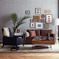 Sitting room...  simple and elegant with picture frames...