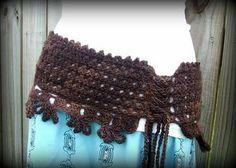 diademas tejidas en crochet | modelo de un lindo cinturon tejido
