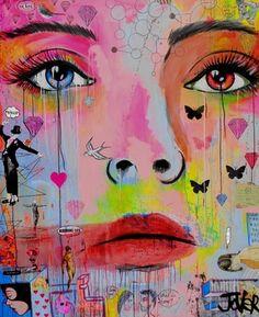 "Saatchi Online Artist Loui Jover; Painting, ""diamond life (canvas)"" #art"