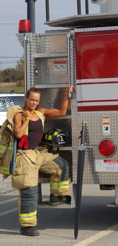 Femularity II — rescue me Female Firefighter, Volunteer Firefighter, Firefighter Decor, Firefighter Quotes, Badass Women, Sexy Women, Hot Firefighters, Volunteer Gifts, Volunteer Appreciation