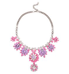 PURPLE PINK BEJEWELED NECKLACE Reference:  A02161003