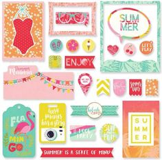 Scrapbookdepot - Photo Play For The Love of Summer - Ephemera Cardstock die-cuts - PP2535 - Photo Play - Diecut Diverse