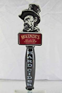 "McKenzie's Hand Pressed Black Cherry Hard Cider Beer Tap Handle 10.25"" x 3 "" (Box 8). | eBay!"