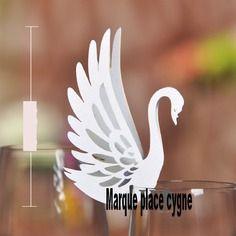 Fournitures decoration mariage : porte étiquettes cygne mariage a littlemercerie
