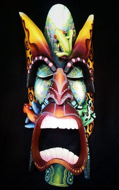 Authentic indigenous mask, directly from Boruca, Wooden mask Totems, Frog Species, Costa Rica, Masks Art, African Masks, Indigenous Art, Tribal Art, Mask Design, Sculptures
