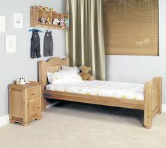 Amelie Oak Childrens Standard Sized 3 Single Bed