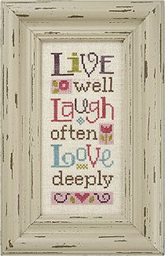 Lizzie Kate Snippet S97  Live Laugh Love  Cross by DebiCreations, $5.99