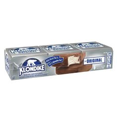 Klondike Original Vanilla Ice Cream Bars Dipped in Chocolately Coating - Klondike Bar, Ice Cream Freeze, Chocolate Shells, Snack Recipes, Snacks, Icecream Bar, Pesto Chicken, Day Work