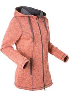 Veste en maille polaire, manches longues saumon chiné - bpc bonprix collection - bonprix.fr